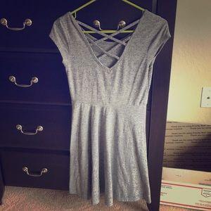 Super cute gray skater dress